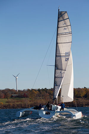 PT-11, a hi-performance 11 meter trimaran | Dave Walworth Yacht Designs